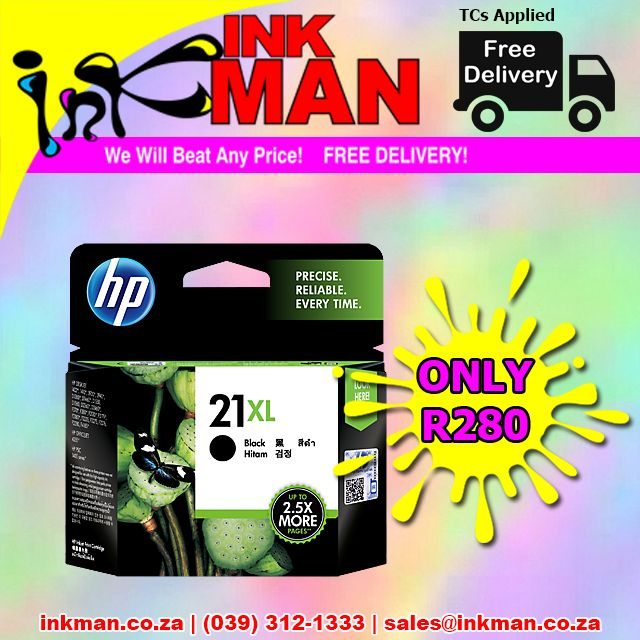 @HP_S_Africa 21XL Black #cartridge #BestPrice ONLY R280 #INKman #SouthAfrica ORDER HERE http://bit.ly/1lQENXO