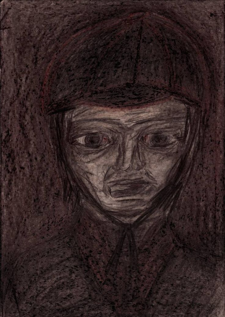 "Drawing: Pastel and Pencil on Paper.   Size: 11.7 H x  8.3 W x  0  in   Rook ""The Flat cap"". Employees of local governments and accompanying institutions.   All the characters are fictional, representing types of people. There are not portraits of real man or woman."