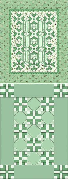 Лоскутное одеяло *Двойные блоки*. Схема..