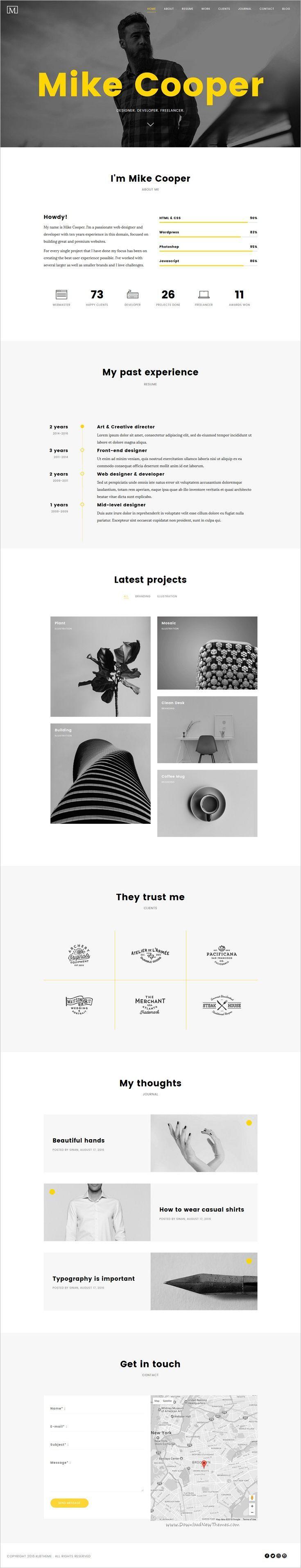 Die besten 25+ Example of portfolio Ideen auf Pinterest | Online ...