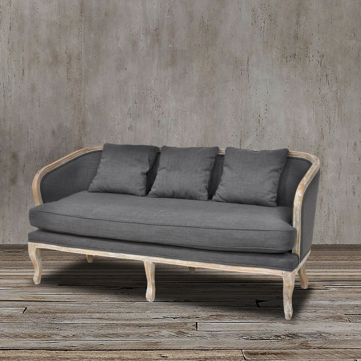 This Stunning Curved Spfa Couch Settee Exudes Simple Elegance With Its  Solid Oak Frame And Gray
