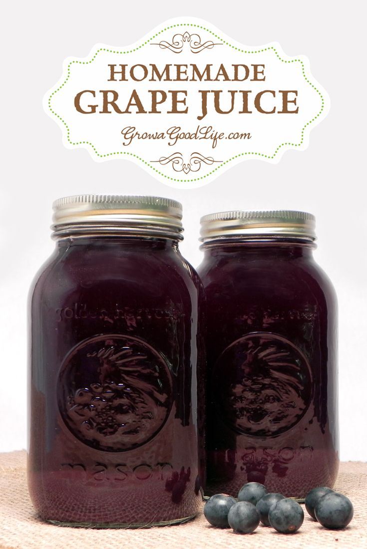 How to make and can homemade concord grape juice with no added sugar. Grow a Good Life