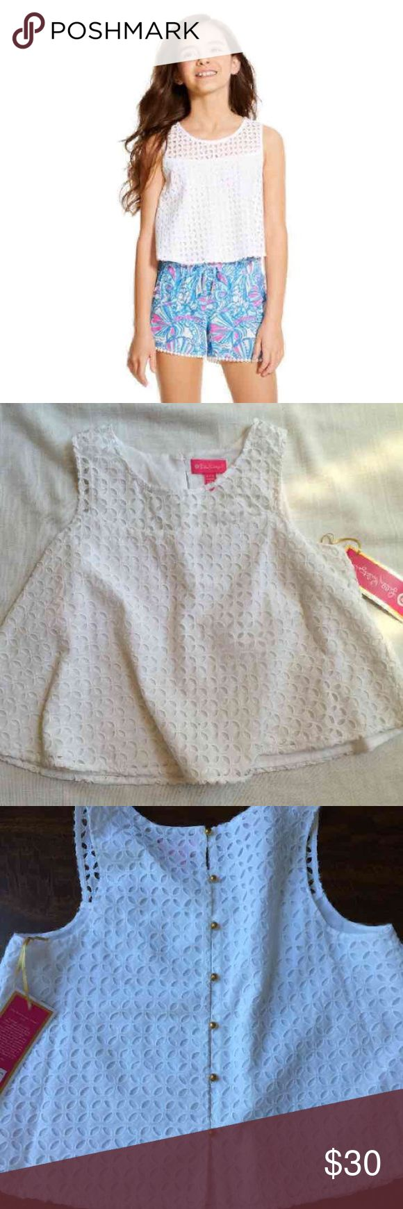 🆕NWT Lilly Pulitzer XL Girls Crochet Top Brand new with tags. Size XL.⚡Will not be priced lower. ❌No offers❌ Lilly Pulitzer for Target Shirts & Tops Blouses