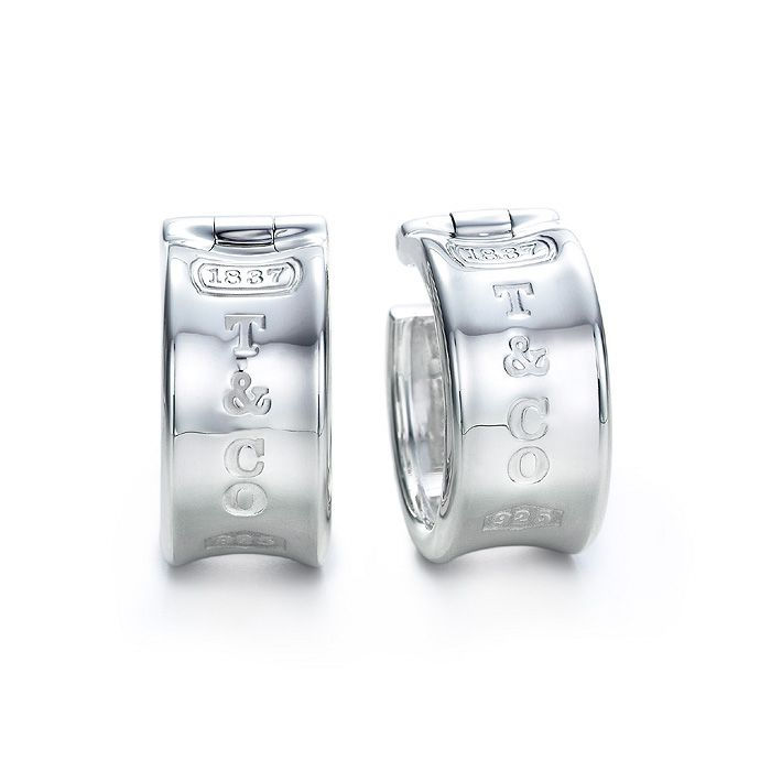 Tiffany Co 1837 Collection Silver Earrings