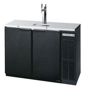 Beverage Air DD48Y-1-B 48 Direct Draw Beer Dispenser Self-closing doors. Stainless steel top. 3†insulated dispensing tower.  #BeverageAir #MajorAppliances