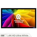 Fixed Frame Projector Screen - 16:9, 135 in. 4k HD Ultra White 1.2 Gain