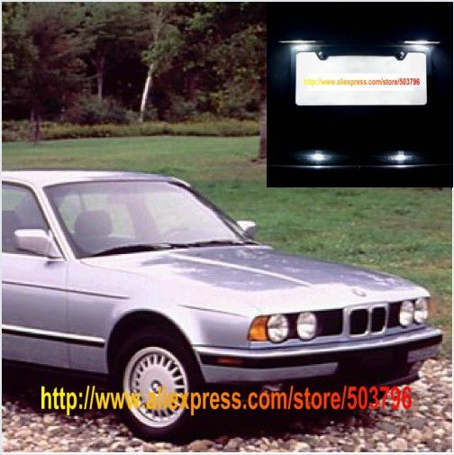 (Не поворотника сборку) Бесплатная Доставка 2 шт./лот Белый СВЕТОДИОД Номерной знак Огни Для BMW 5 Серии E34 1988-1996