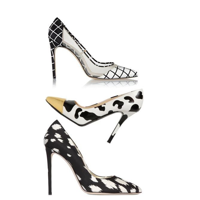 Pumps in Black and White Summer 2015 Trend: Bionda Castana, Moschino, Fausto Puglisi