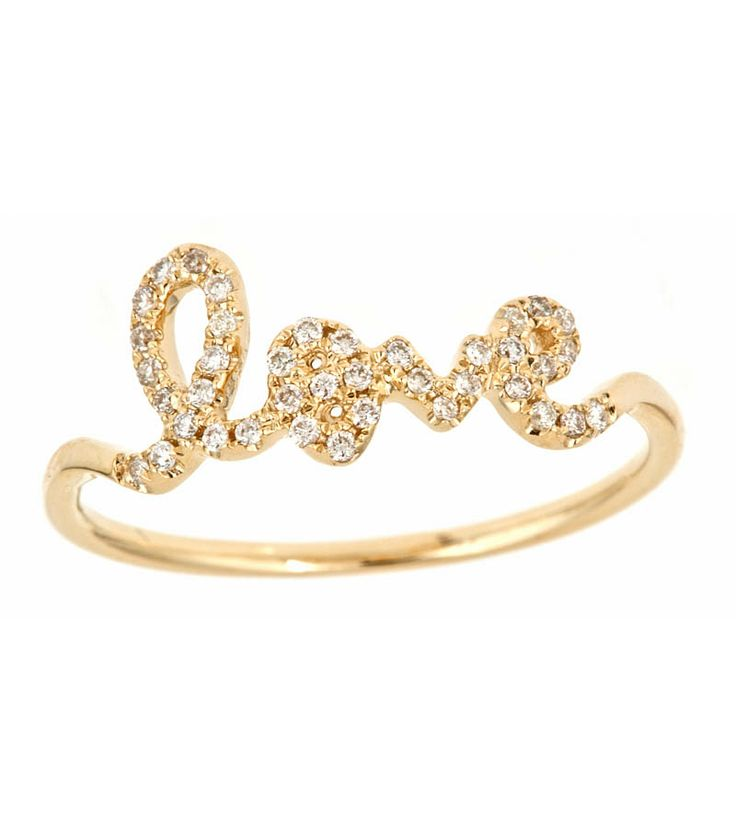 I am so in love with this love ring!! Sydney Evan Love Ring   4014501P   Thomas Laine