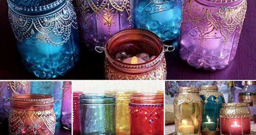 DIY Moroccan Jar Lanterns