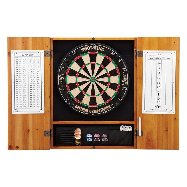 Metropolitan Dart Board Solid Wood Cabinet for Bristle Dart Boards - 40-0402