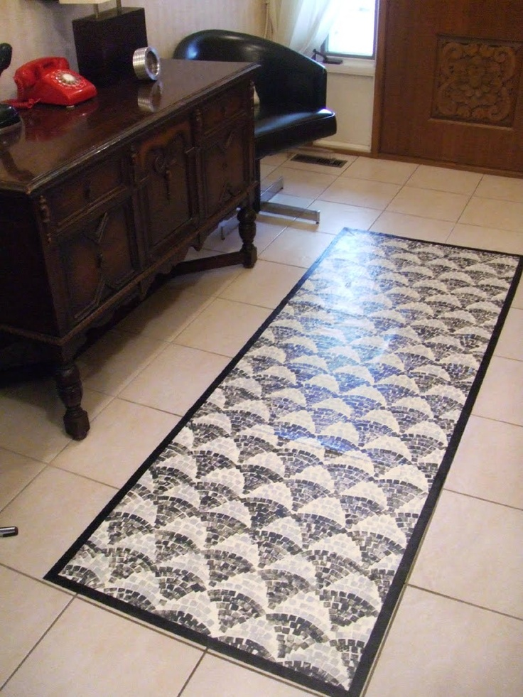 16 best vinyl flooring painted images on pinterest vinyl for Painted vinyl floor cloth