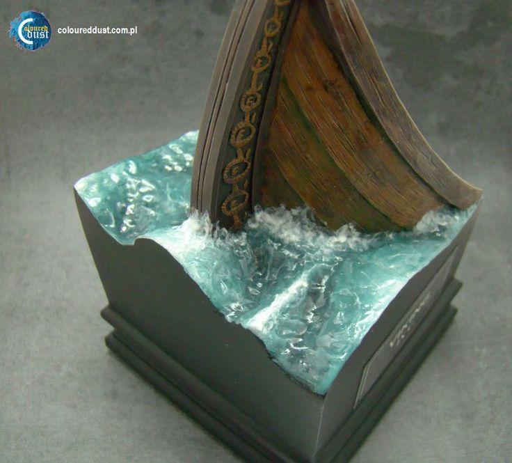 Cómo hacer una base con efecto de agua? | Polvo color