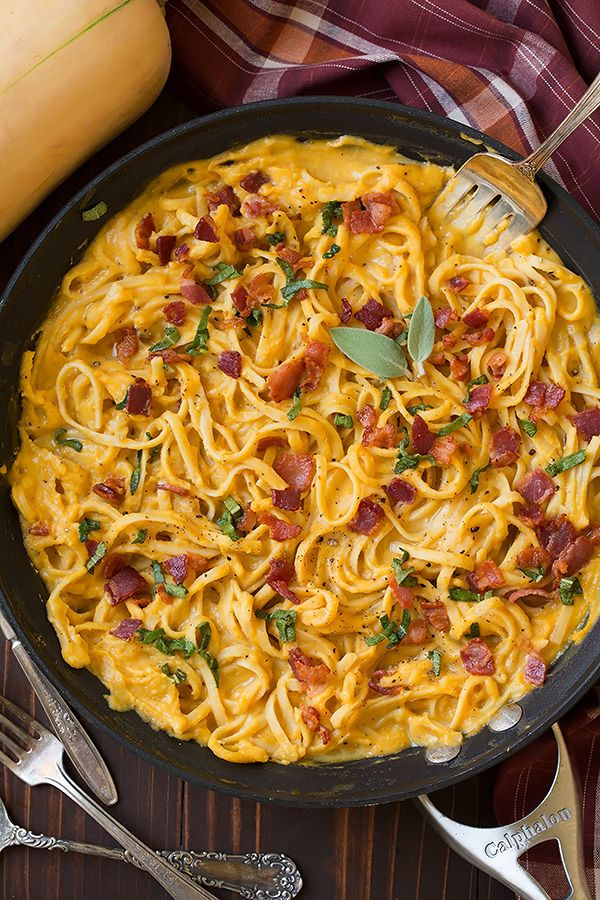 Butternut Squash Pasta Carbonara  ...Worth peeling and chopping the squash for :)