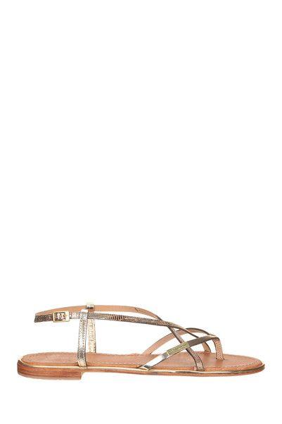 Sandales cuir dorées Monaco Doré Les Tropéziennes par M Belarbi sur MonShowroom.com