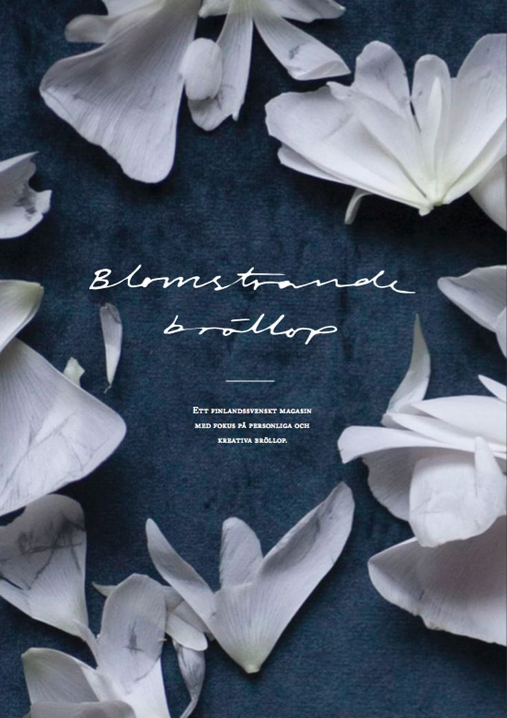 cover of Blomstrande bröllop, finlands first swedish wedding magazine! BLOMSTRANDE | Förköp av Blomstrande bröllop! | http://blomstrande.com
