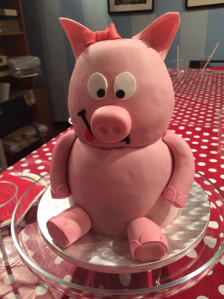 Piggie 3D Cake