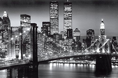 GB Eye Brooklyn Bridge Night Poster >>> Continue to the product at the image link.Note:It is affiliate link to Amazon.