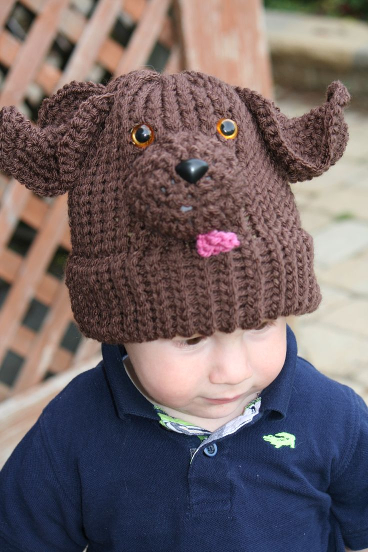 Hand knit Dog Hat For Sale Hand