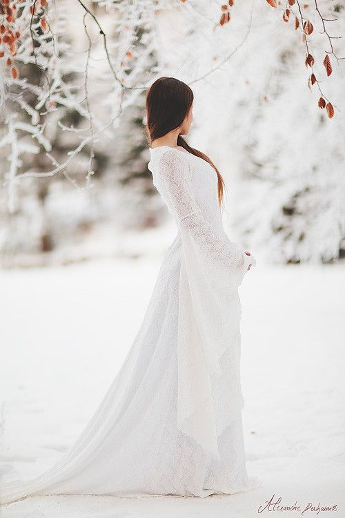 Fairest Among 10,000... Winter White Wedding Dress. Photography. Beautiful Things.
