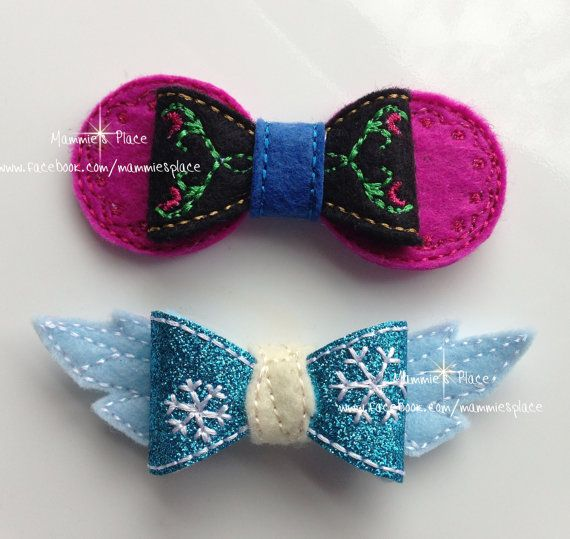 Anna and Elsa Snow Princess/ Queen INSPIRED by by MammiesPlace, $5.00 @sandra0625 Can you make these, please??? :)