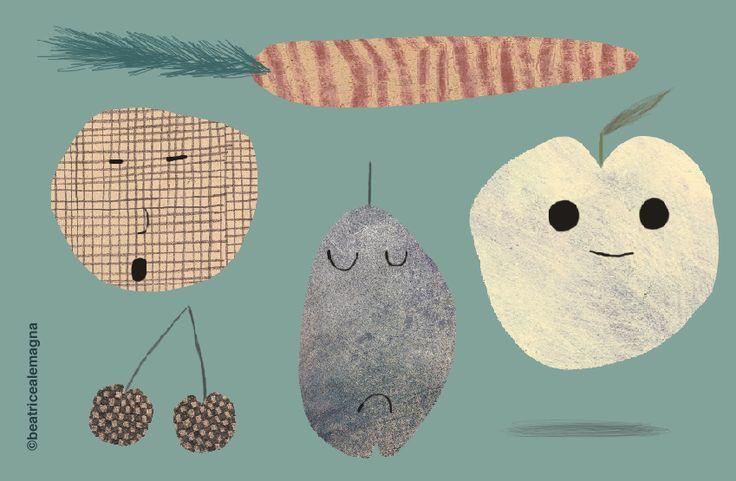 Beatrice Alemagna: Beatrice Alemagna, Fruit Salads, So Cute, Topsi Turvi, Beatricealemagna, Children Books Illustrations, Blog, Photo, Food Illustrations