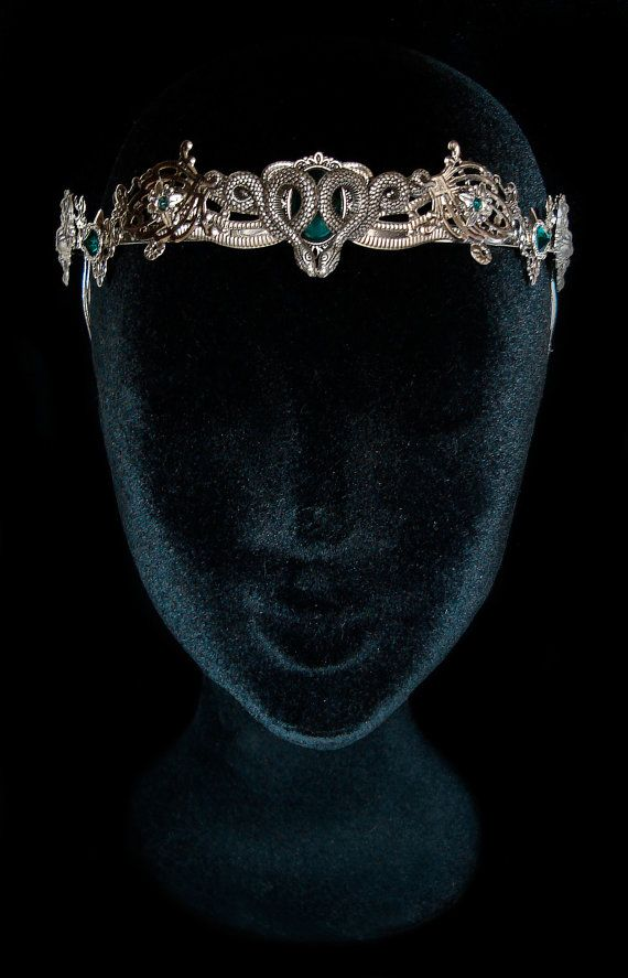 Snake Crown Medusa Gorgon Circlet Salazar Slytherin Salazar Headdress Severus…