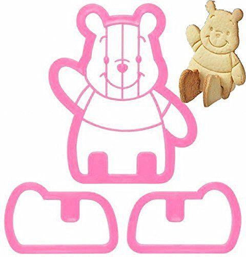 Winnie the Pooh Sitting 3D Cookie Cutter & Toast Press Set…