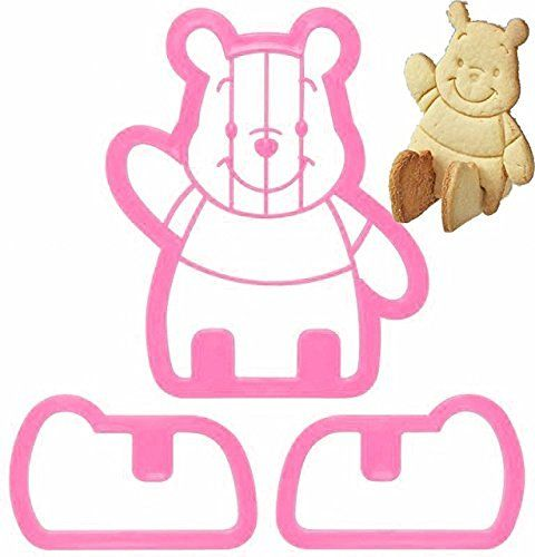 Winnie the Pooh Sitting 3D Cookie Cutter & Toast Press Set…