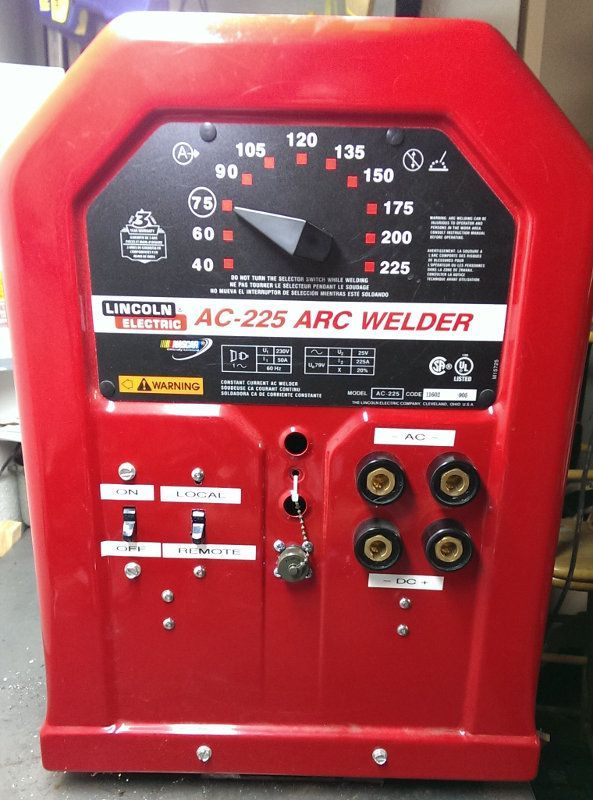 Lincoln Electric AC-225 (AC225) AC/DC stick/TIG welder conversion