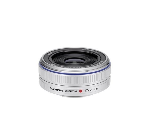 OLYMPUS  M.ZUIKO DIGITAL 17 mm f/2.8 Pancake Lens Price: £ 190.00 Compatible with Micro Four Thirds cameras, the Olympus Digital M.Zuiko 17 mm f/2.8 Pancake Lenss weighs in at a mere 71g and measures only 22mm in length. Get more out of your photography Delightful to look at in its silver finish, the Digital M.Zuiko 17 mm f/2.8 Pancake Lens has an equivalent 34mm focal length in 35mm terms,...