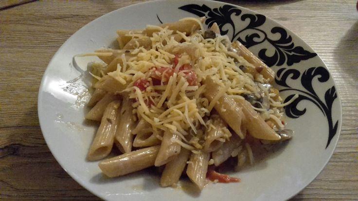 pasta met champignons-paprika room saus