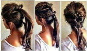 Snel nog even langs een feestje en geen tijd meer om je haar te doen? Treur niet langer want met deze tip is je haar in 2 minuten omgetoverd tot een prachtig kapsel. Alles wat je nodig hebt, zijn drie haarelastiekjes. Zelfs een haarborstel is optioneel