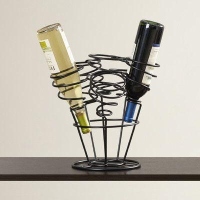 Andover Mills Varnum 6 Bottle Tabletop Wine Rack Finish: Black