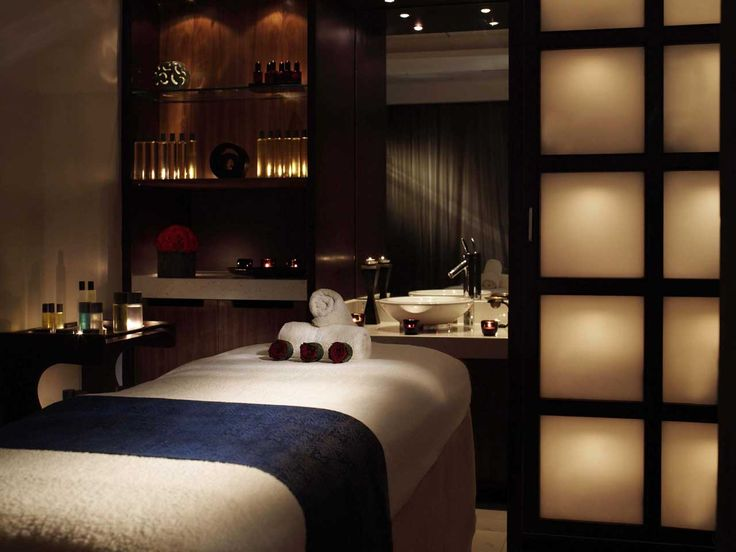 Luxury Spa Treatment Room, Complete With Soft, Relaxing Lighting.
