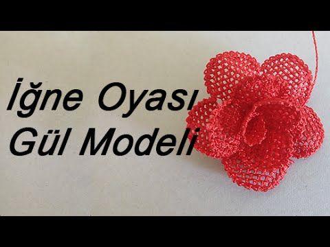EV HANIMI # İğne Oyası: Gül Modeli - YouTube