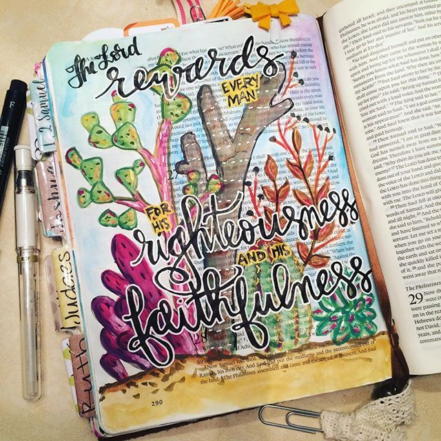 Bible Journaling by Christina Lowery @christinasalive | 1 Samuel 26