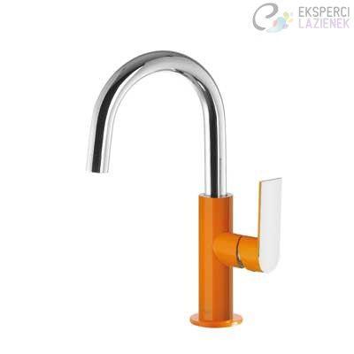 Bateria umywalkowa jednouchwytowa pomarańcz-chrom Loft Colors Tres 20020504NAD