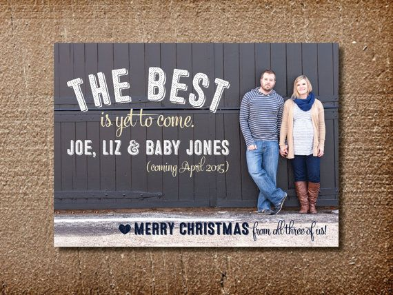 Pregnancy Christmas Photo Card, Announcement, Holiday Card