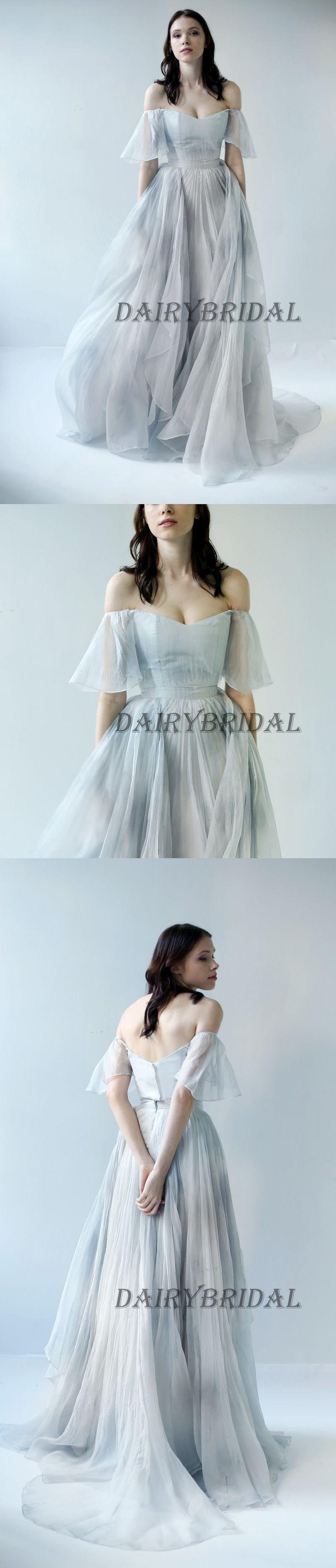 Charming Off the Shoulder Printed Backless A-Line Vintage Prom Dresses, D101