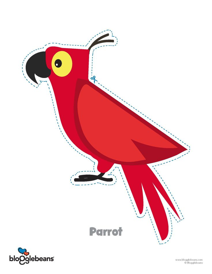 Every pirate needs a pet parrot! Check out our free, pirate templates for kids!