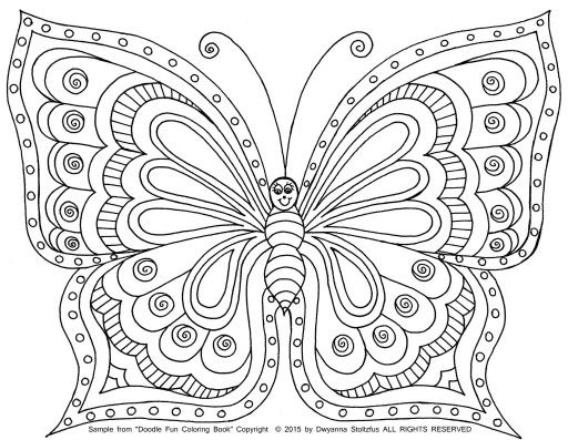 shelly beauchamp zen tangles coloring pages | Pin by Shelly Forkel on Coloring Pages | Butterfly ...