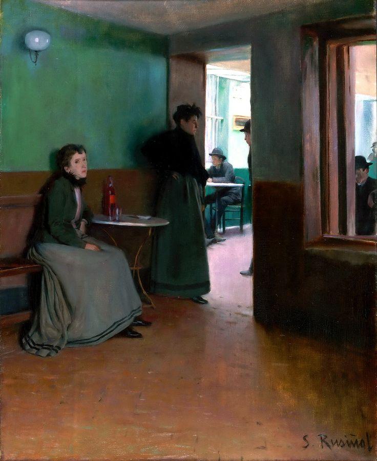 Santiago Rusinol (1861-1931) - Interior of a Cafe, 1892 ~Via Samy Odin