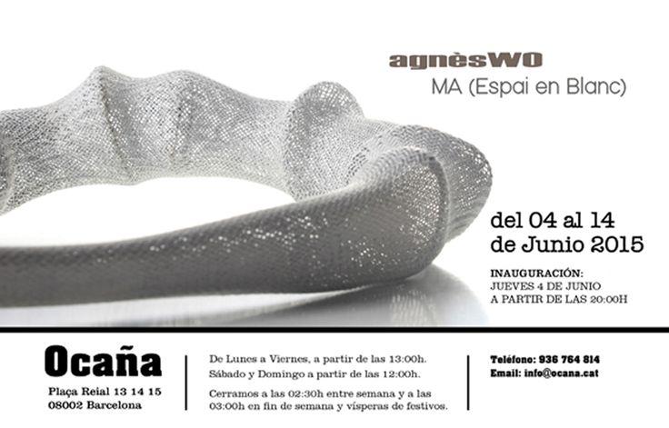 4-14 junio 2015 - agnèsWO at Ocaña - Plaça Real 13 14 15 - 08002 Barcelona - inauguracion jueves 4 de junio a las 20h