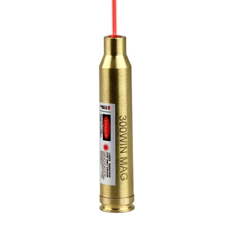 300 WIN MAG Laser Bore Sighter Red Dot Sight Brass Cartridge Bore Sight Caliber
