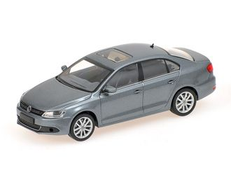 Minichamps 1:43 VW Jetta Diecast Model Car 400059000 This VW Jetta (2010) Diecast Model Car is Metallic Grey and has working wheels and also comes in a display case. It is made by Minichamps and is 1:43 scale (approx. 9cm / 3.5in long).