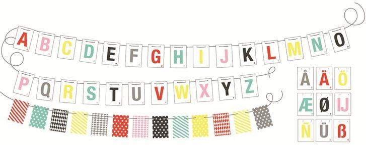 Littlephant Vimpel Alphabet on a String