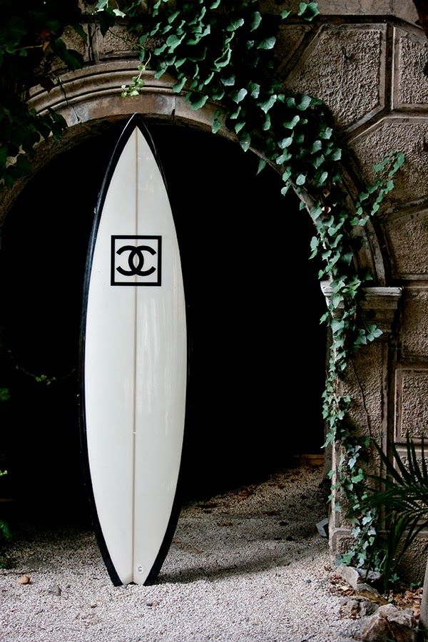 VICKOS diary / Chanel store  Saint Tropez Surf  Black and White