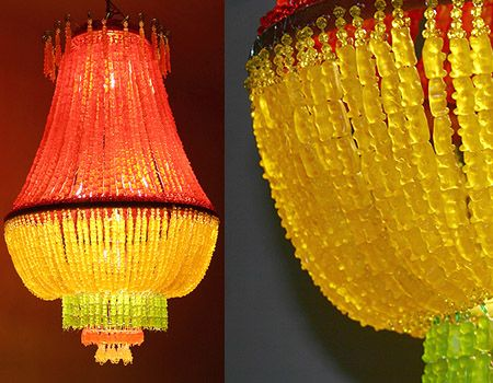 Gummy Bear Chandelier by Artist YaYa Chou...How amazing would this be a kids party!!
