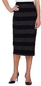 G.I.L.I. got it love it G.I.L.I. Stretch Twill Striped Pencil Skirt with Back Zip